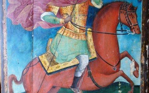 Иконата Св. Димитърна кон - след почистване