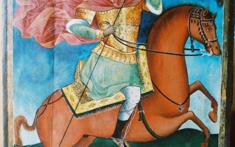 Иконата Св. Димитърна кон -след реставрация