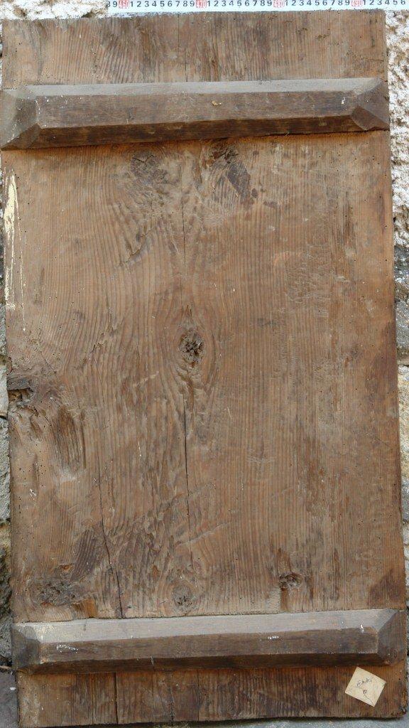 Иконата Св. Димитър - гръб преди реставрация