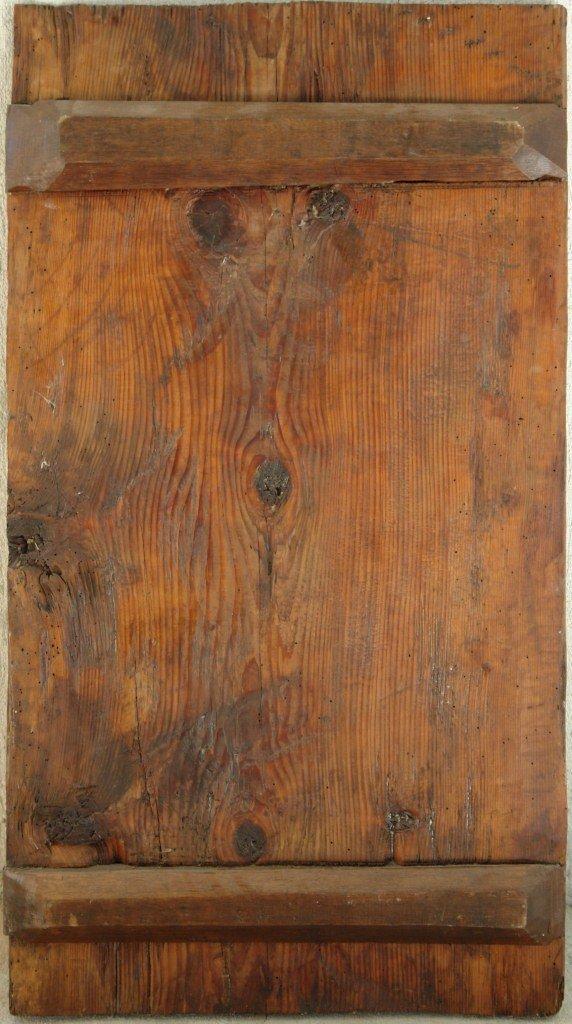Иконата Св. Димитър - гръб след реставрация