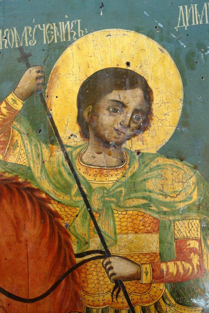 Иконата Св. Димитър - детайл преди реставрация-2