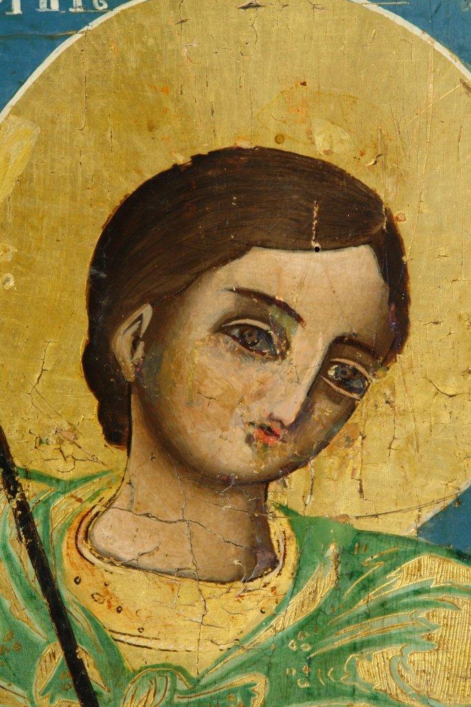 Иконата Св. Димитър - детайл преди реставрация-3