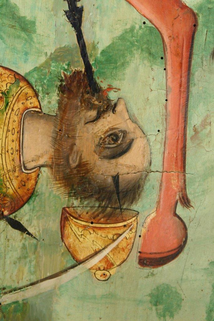 Иконата Св. Димитър - детайл след реставрация