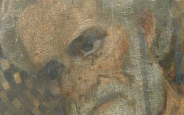 Иконата Св. Николай - детайл преди реставрация