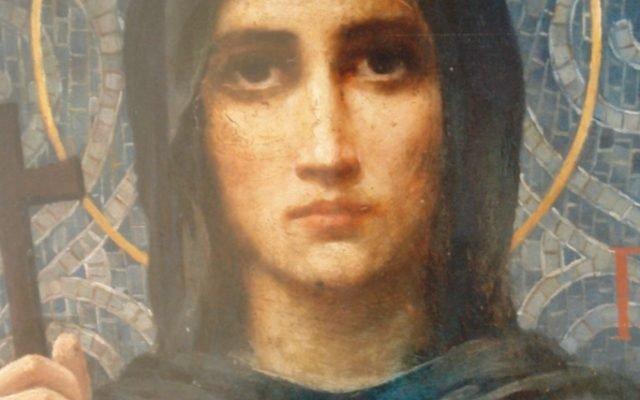 Иконата Св. Петка - детайл преди реставрация