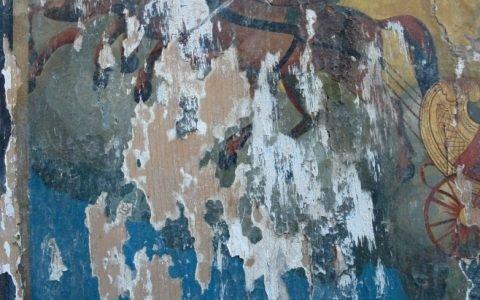 Иконата Св. Пророк Илия детайл преди реставрация-2