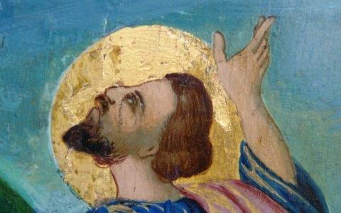 Иконата Св. Пророк Илия детайл след реставрация-2