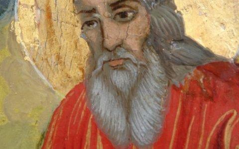 Иконата Св. Пророк Илия детайл след реставрация-3