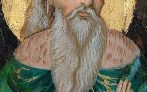 Иконата Св. Пророк Илия детайл след реставрация