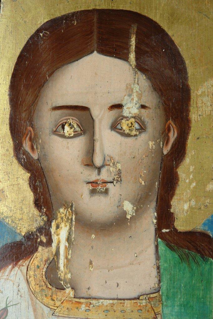 Иконата Св. Стефан - детайл по време на реставрация-2