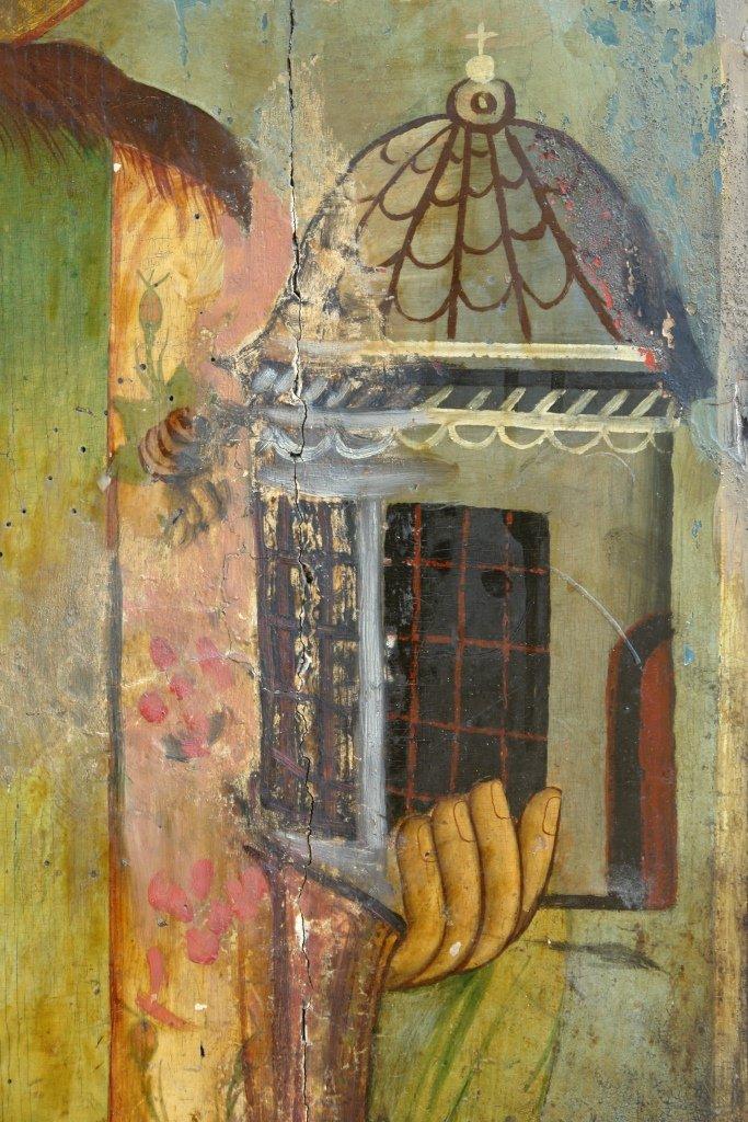 Иконата Св. Стефан - детайл преди реставрация-2