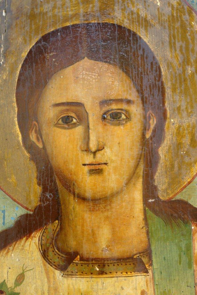 Иконата Св. Стефан - детайл преди реставрация
