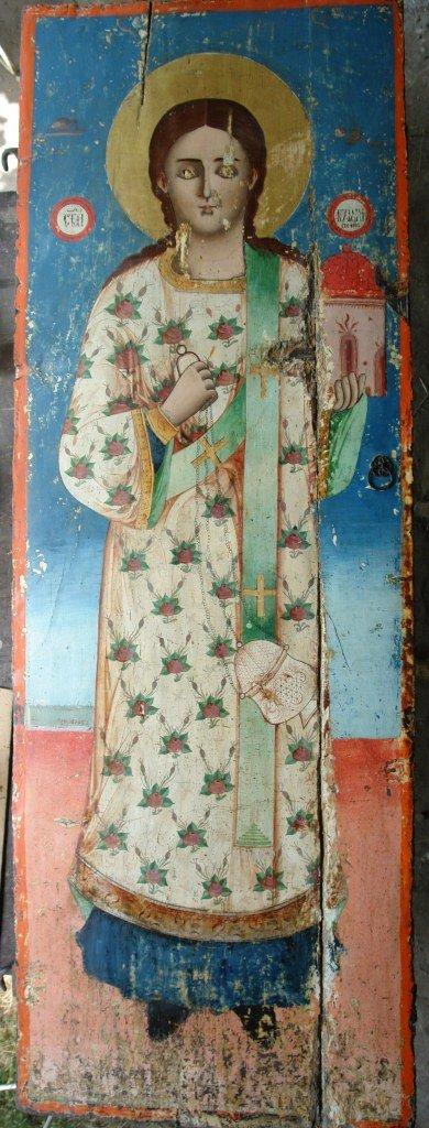Иконата Св. Стефан - по време на реставрация-2