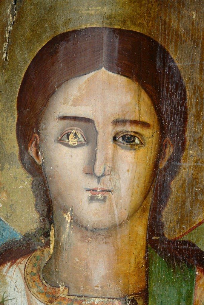 Иконата Св. Стефан - по време на реставрация-3