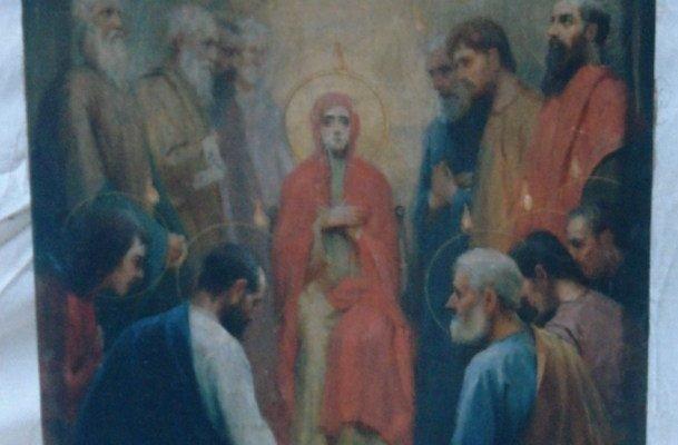 Иконата Сошествие на Св. Дух - преди реставрация