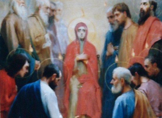 Иконата Сошествие на Св. Дух - след реставрация