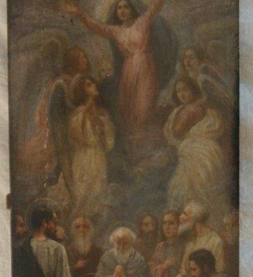Иконата Успение на Пресвета Богородица - преди реставрация