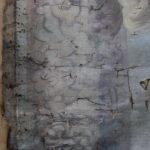 Картината Италианска циганка - автор Антон Митов - детайл преди реставрация-4