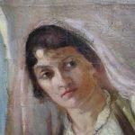 Картината Италианска циганка - автор Антон Митов - детайл след реставрация