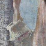 Картината Италианска циганка - автор Антон Митов - детайл след реставрация-2