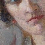 Картината Италианска циганка - автор Антон Митов - детайл след реставрация-5