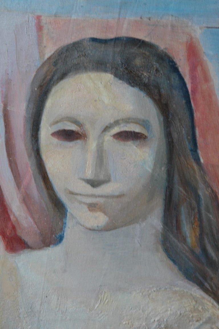 Картината Мадона - автор Иван Ненов - детайл след реставрация