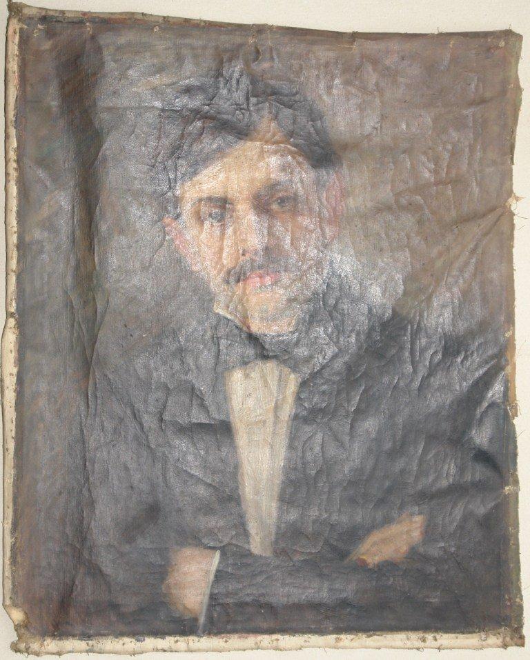 Картината Портрет на мъж - преди реставрация - нормално осветление