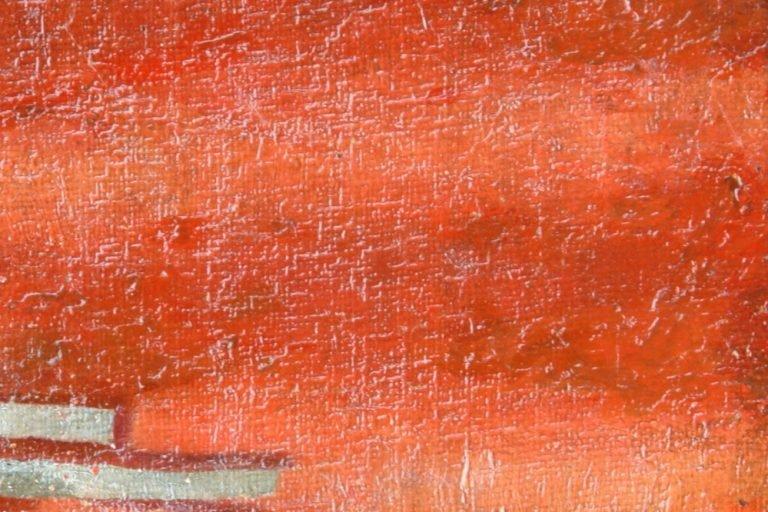 Картината Селянка - автор Стефан Баджов - детайл след реставрация-2
