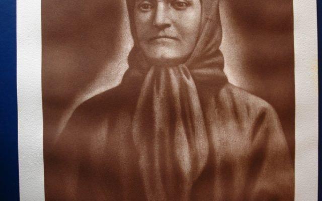 Майката на Апостола-офорт, лице преди реставрация
