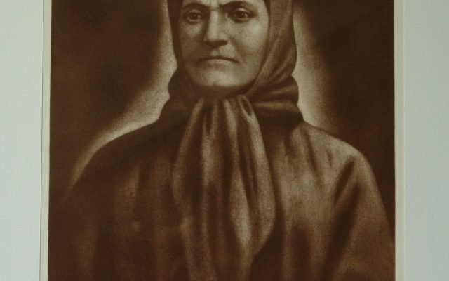 Майката на Апостола-офорт, лице след реставрация