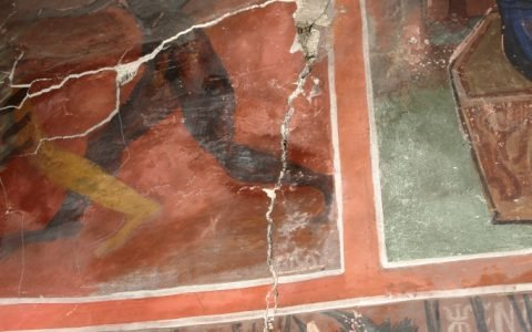 Разрушения на западната стена преди реставрация-2