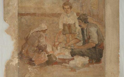 Рисунката Калайджия - автор Ив. Мърквичка, след почистване