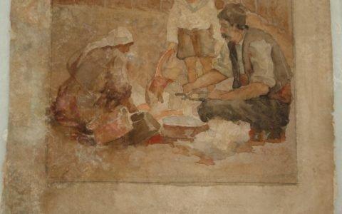 Рисунката Калайджия - автор Ив. Мърквичка, след реставрация