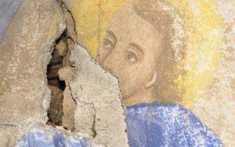 Северната стена в хр. Св. Теодор-Тирон преди реставрация - детайл-3