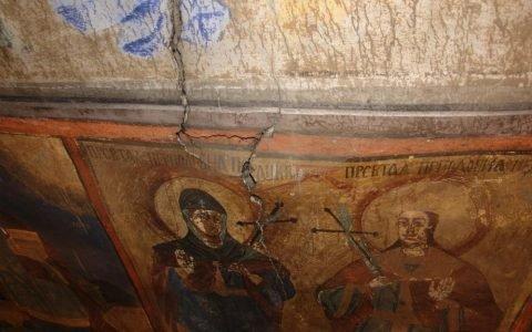 Северната стена в хр. Св. Теодор-Тирон преди реставрация - детайл-4