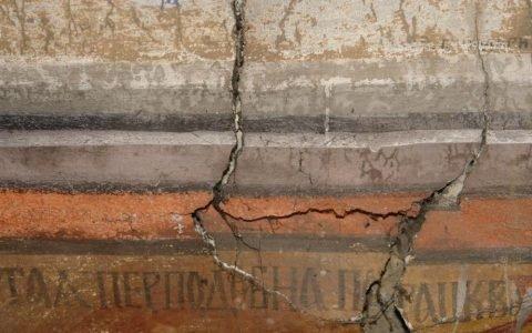 Северната стена в хр. Св. Теодор-Тирон преди реставрация - детайл-6