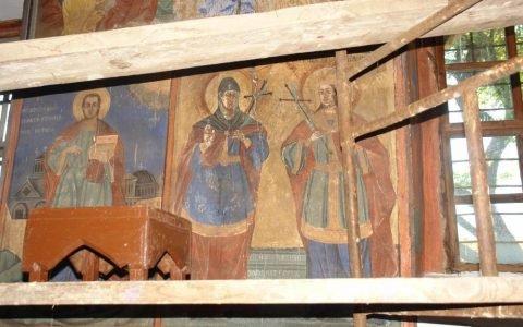 Северната стена в хр. Св. Теодор-Тирон преди реставрация - детайл-7