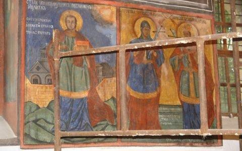Северната стена в хр. Св. Теодор-Тирон след реставрация-3