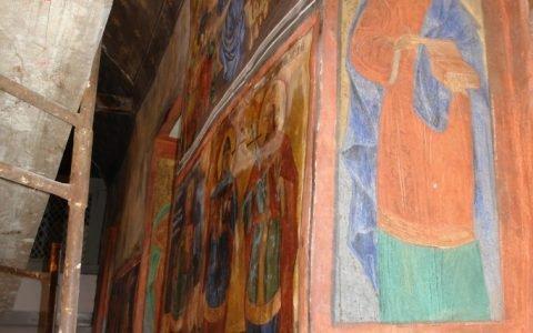 Северната стена в хр. Св. Теодор-Тирон след реставрация-4