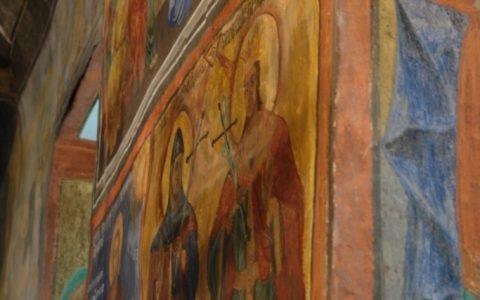 Северната стена в хр. Св. Теодор-Тирон след реставрация-5