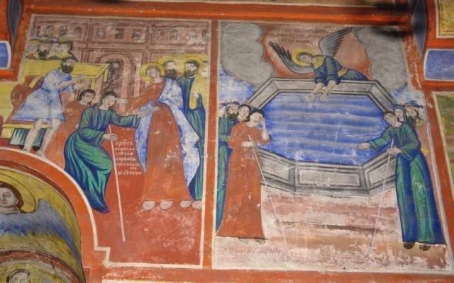 Северната стена в хр. Св. Харалампий преди реставрация-3