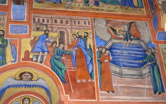 Северната стена в хр. Св. Харалампий след реставрация-3