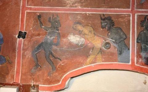 Сцената Механджия преди реставрация
