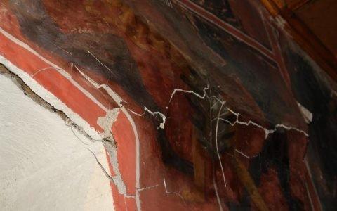 Детайл от западната стена преди реставрация-2