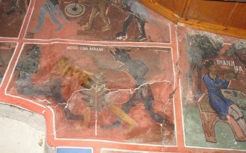 Детайл от западната стена преди реставрация-3