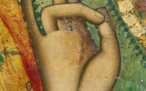 Иконата Св.Николай - детайл преди реставрация-1