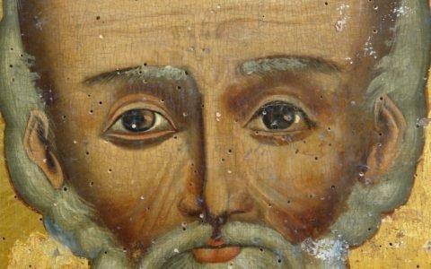 Иконата Св.Николай - детайл преди реставрация