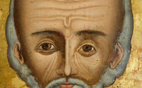 Иконата Св.Николай - детайл след реставрация